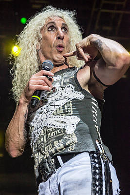 Twisted Sister - Dee Snider Art Print by Stefan Nielsen