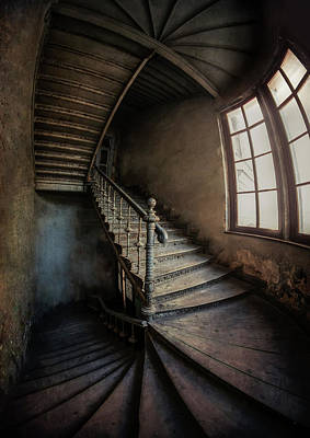 Photograph - Twisted Spiral Staircase by Jaroslaw Blaminsky