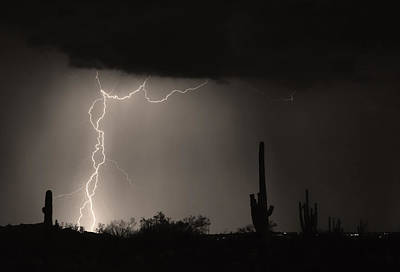 Lightning Images Photograph - Twisted Storm - Sepia Print by James BO  Insogna