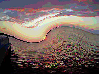 Photograph - Twisted Sunset Melting Colors by Aimee L Maher ALM GALLERY