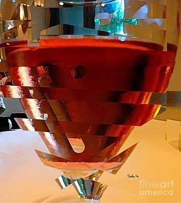Digital Art - Twisted Wine Glass by Dorlea Ho