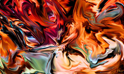 Digital Art - Twisting Fire by Phillip Mossbarger
