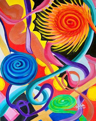 Painting - Twists And Turns by Kathern Welsh