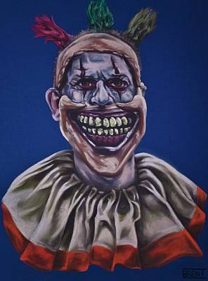Drawing - Twisty The Clown  by Brent Andrew Doty