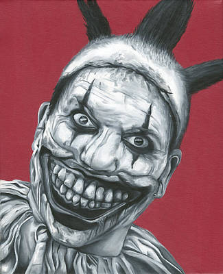 Evil Clown Painting - Twisty The Clown by Kel Enders