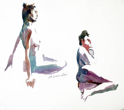 Painting - Two, 5 Minute Poses by Mark Lunde