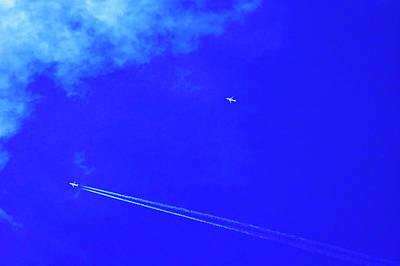 Digital Art - Two Aeroplanes Flying by Sami Sarkis
