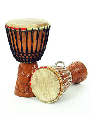 Musical Instruments Wall Art - Photograph - Two African Djembe Drums by GoodMood Art