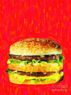Mcdonald Photograph - Two All Beef Patties by Wingsdomain Art and Photography