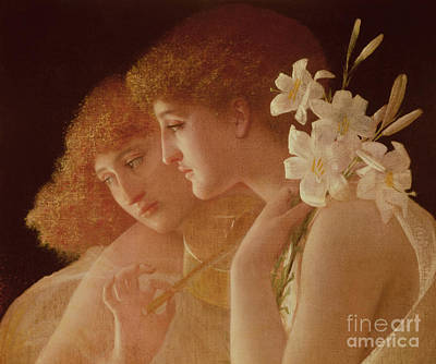 Two Angels Art Print by Charles Francois Sellier