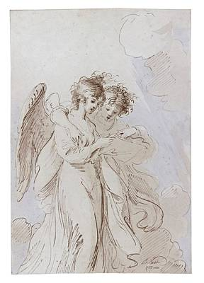 P.r Painting - Two Angels Singing by MotionAge Designs