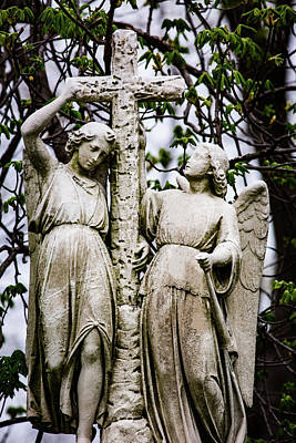 Photograph - Two Angels With Cross by Dale Kincaid