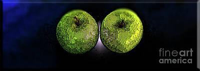 Digital Art - Two Apples by Lisa Kaiser