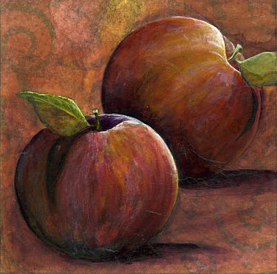 Two Apples Art Print by Sandy Clift