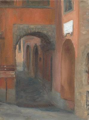 Painting - Two Arches In Montefiascone, Italy by Thimgan Hayden