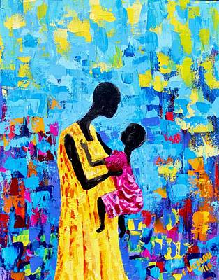 Painting - Two As One by Liz - Nigeria