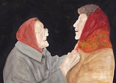 Painting - Two Babushkas by Michelle Welles