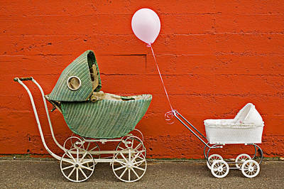 Balloons Photograph - Two Baby Buggies  by Garry Gay