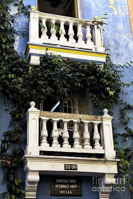 Photograph - Two Balconies In Cartagena by John Rizzuto