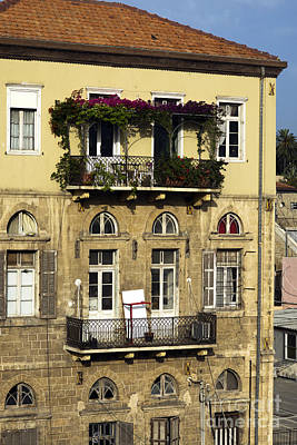 Photograph - Two Balconies In Jaffa by John Rizzuto