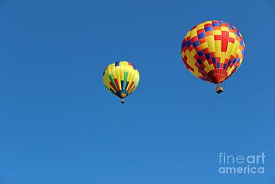 Photograph - Two Balloon Buddies Horizontal by Karen Adams