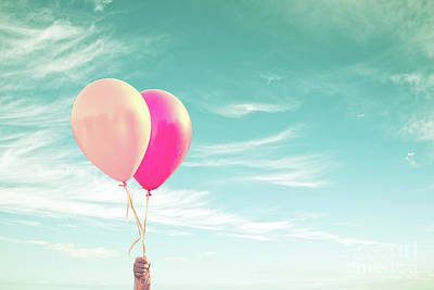 Photograph - Two Balloons by Delphimages Photo Creations