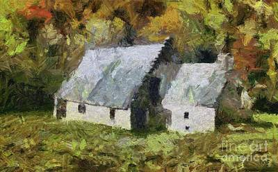 Painting - Two Barns by Dragica Micki Fortuna