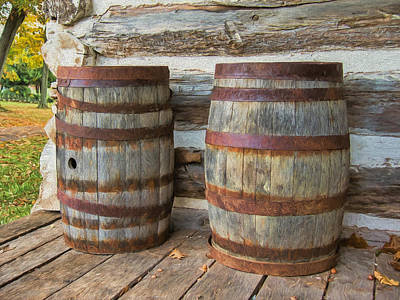 Photograph - Two Barrels by Guy Whiteley