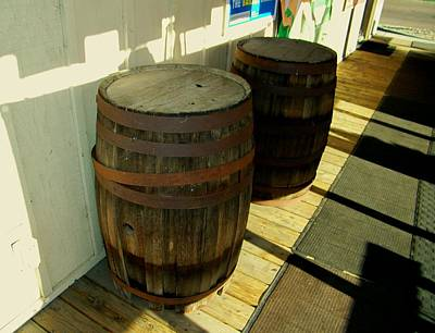 Art Print featuring the photograph Two Barrels by Lenore Senior