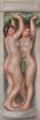 Penis Painting - Two Bathers by Pierre-Auguste Renoir
