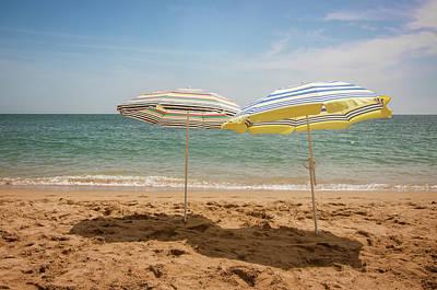 Photograph - Two Beach Shaders by Carlos Caetano