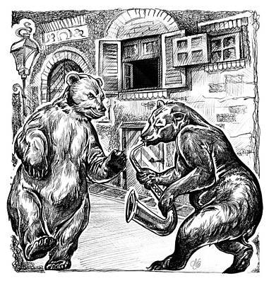 Two Bears Art Print