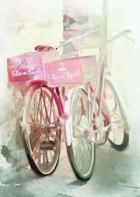 Two Bicycles Art Print by Chintami Ricci