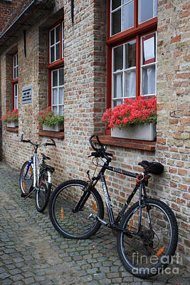 Photograph - Two Bikes In Bruges by Mary-Lee Sanders