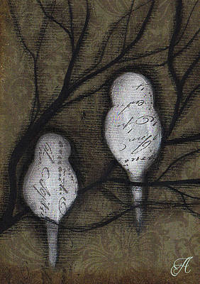 Painting - Two Birds by Abril Andrade Griffith