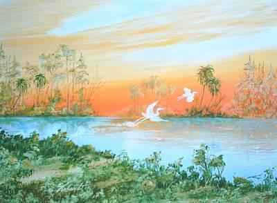 Two Birds Art Print by Dennis Vebert