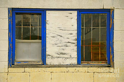 Photograph - Two Blue Windows by Nareeta Martin