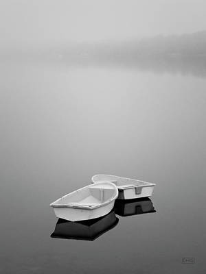 Two Boats And Fog Art Print