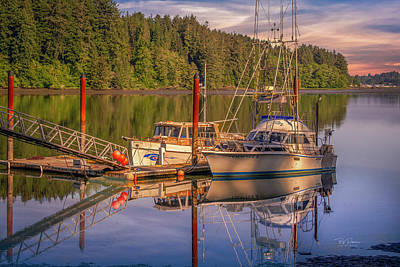 Photograph - Two Boats At Rest by Bill Posner