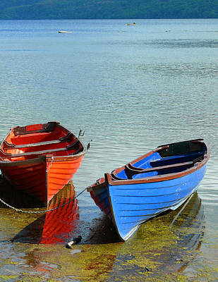 Photograph - Two Boats by Joel Gilgoff
