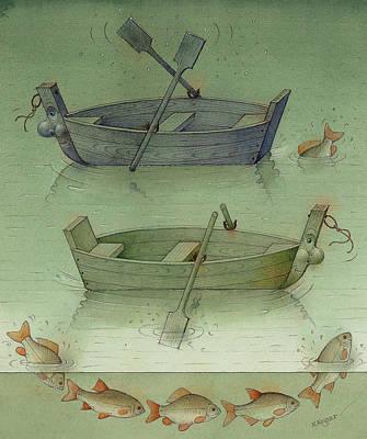Two Boats Art Print by Kestutis Kasparavicius