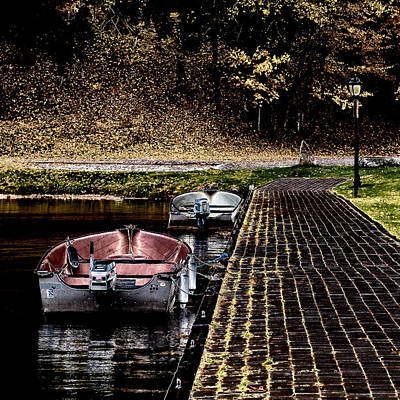 Photograph - Two Boats On The Pond by David Patterson
