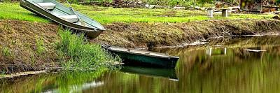 Photograph - Two Boats Reflection 1024 by Jerry Sodorff