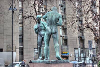 Pyrography -  Two Boxers Helsinki by Yury Bashkin