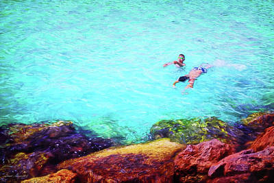 Photograph - Two Boys Swimming by Glenn Gemmell