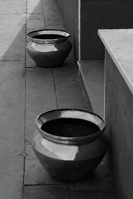 Photograph - Two Brass Pots by Prakash Ghai