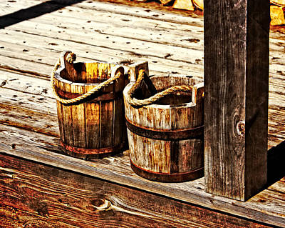 Photograph - Two Buckets by Marty Koch