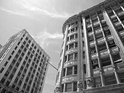 Photograph - Two Buildings In Dtla by Hold Still Photography