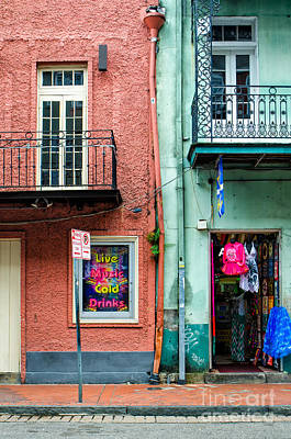 Photograph - Two Buildings On Bourbon-nola by Kathleen K Parker