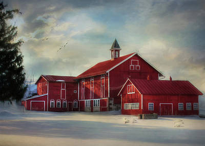 Old Barn Digital Art - Two By Two by Lori Deiter